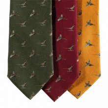 Deerhunter-Silk-Wool-Tie-with-Pheasant-Pattern